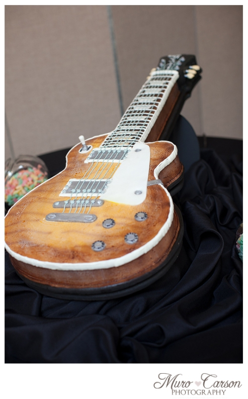Birmingham Alabama Wedding Photographer guitar grooms cake